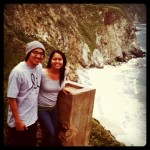 """at Bixby Bridge before our """"we could of died"""" descent"""