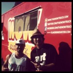 "Mighty Thredz + FlavorInnovator at the WOW truck filming for the Cooking Channel show ""Eat St"""