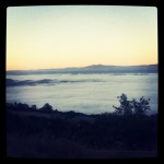 Above the clouds of Mt. Hamilton