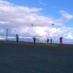 Kite flying at Shoreline Lake