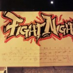 Fight Night betting squares, graffiti by who else?