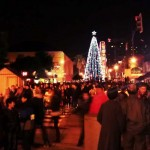 tree lighting at Xmas in the Park, SJ