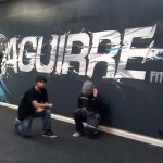 Finished piece for Aguirre Fitness in Hercules, CA by Illuminaries.net