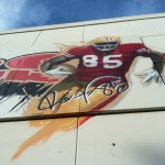 Vernon Davis Signs Mural at Walgreens on 23rd and Mission