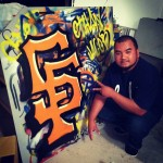 Showing my cuzzo the ropes with spraypaint