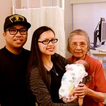 Uncle, Auntie, and Nanang visiting